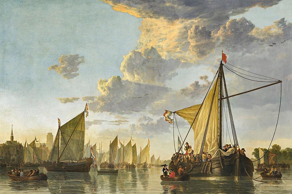 Aelbert Cuyp - De Maas bij Dordrecht 1650